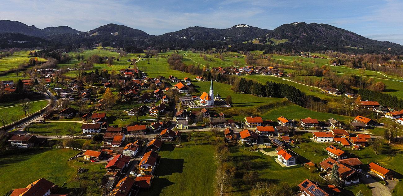 Arzbach aus der Vogelperspektive