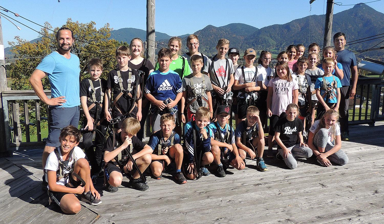 Jugendausflug des SVWA in den Hochseilgarten Isarwinkel 2018