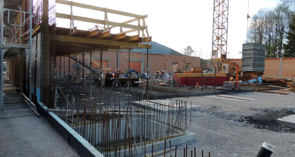 Baufortschritt am 7. Mai 2019
