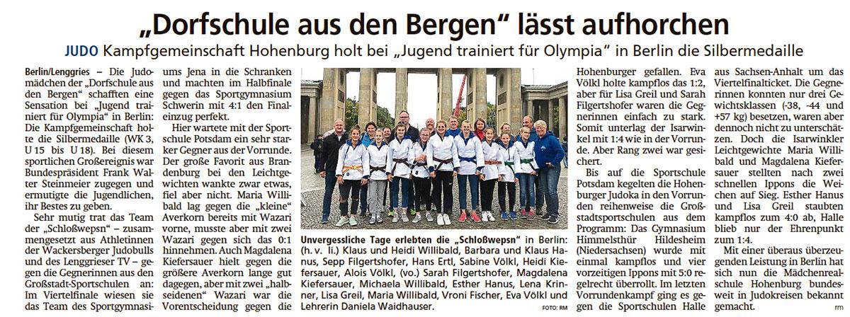 """""""Dorfschule aus den Bergen"""" läßt aufhorchen"""