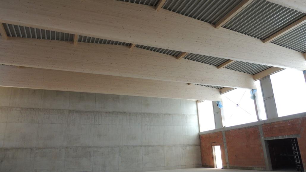 Dachkonstruktion, Januar 2020