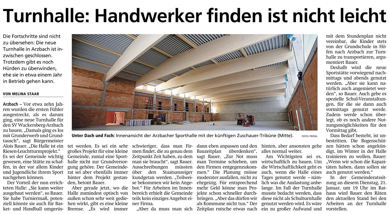 Ansicht neue Turnhalle Arzbach